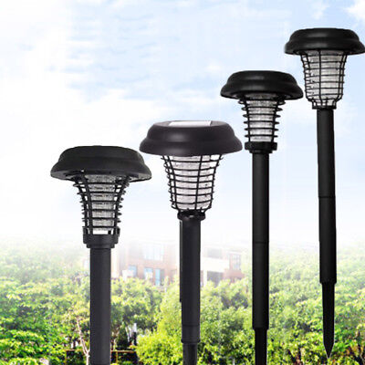 Solar LED Garden Light Bug Zapper Mosquito Fly Insect Repeller Killer Metal ABS