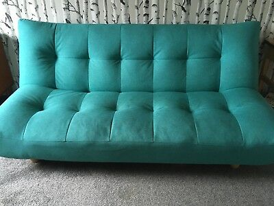 Teal Click Clack Cloud Sofa Bed From Maison Du Monde Rrp 314 Mid Century Modern