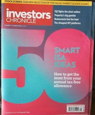 50 Smart ISA Ideas, Investors Chronicle, 2 - 8 March 2018