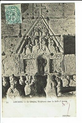 CPA-Carte postale - France -Loches - Le Donjon -Sculpture 1906 - S1905