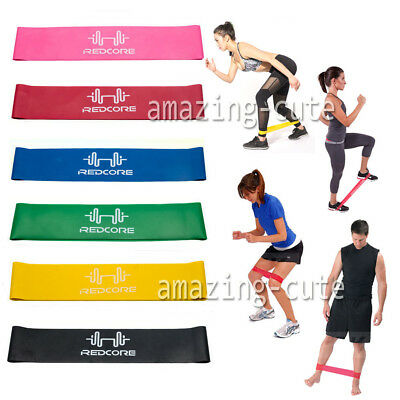 6 PCS Heavy Duty Resistance Band Loop Power GYM Fitness Exercise YOGA WORKOUT