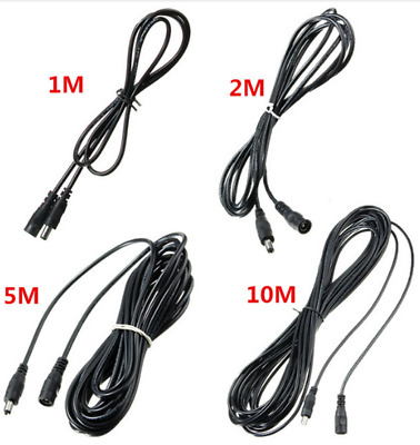 0.5M-10M 12V CCTV DC Power Cable Extension Cord Adapter Male/female 5.5mmx2.1mm