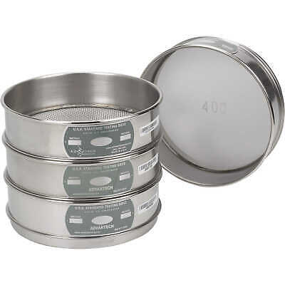 Advantech Manufacturing Stainless Steel Testing Sieve #20 Sieve Designation 8...
