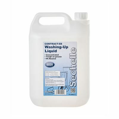 Sechelle EB Washing Up Liquid 5 Litre - High Foaming Concentrated Liquid