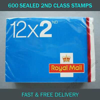 600 2nd Class Stamps 2017 SEALED PACK Postage UK MINT CONDITION Second Stamp