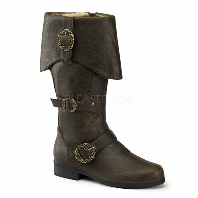 Carribean-299 Knee Men's Combat Boots by PleaserUSA