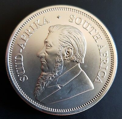 South Africa 2018 1 ounce Silver Krugerrand Brilliant Uncirculated Coin