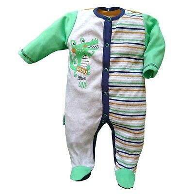 BNWT Baby Infant Boys  Playsuit Sleepsuit 100% Cotton 3-6 Months