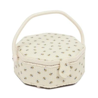 Octagonal Shaped Hobbygift Sewing Basket - Bees on Honeycomb Design - HGOCT/470