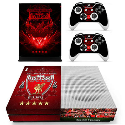 Xbox ONE S SLIM Skin Sticker Vinyl Decal for Console & 2 Controllers Liverpool