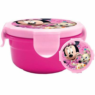 Official Childrens Minnie Mouse Lunch Box Picnic Box In Pink Kids Back To School