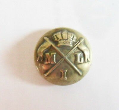 Indian Army. 1st Madras Lancers Other Ranks Tunic Button (pre 1903)