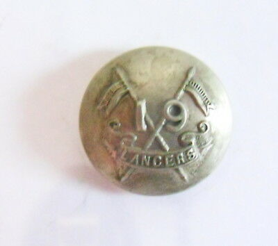 Indian Army. 19th Lancers (Fane's Horse) Officer's Tunic Button.