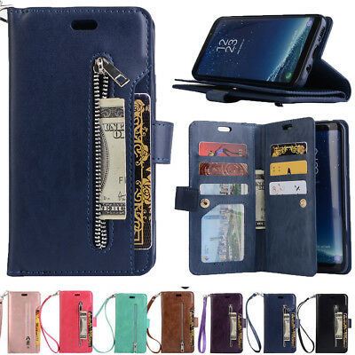 Flip Wallet PU Leather Bag Cover Stand Phone Case For Samsung Galaxy S9 Note 9 8