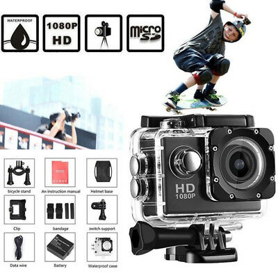 Ultra HD 1080P Portable DV Wide Angel Lens Sports Camera Action Camcorder