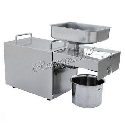 220V Automatic Nut Seeds Sunflower Seeds Oil Expeller Oil Hot Press Machine