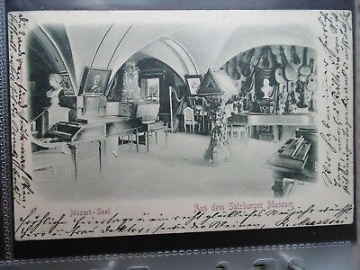Mozart - Saal at the Salzburg Museum - Early card posted 1899