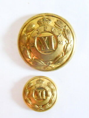 Indian Army. 11th Rajputs Officer's Tunic Buttons.