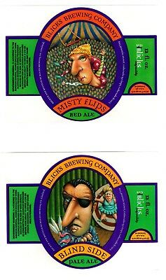 Blicks Brewing Company, Colorado Springs - 2 x older USA beer bottle labels