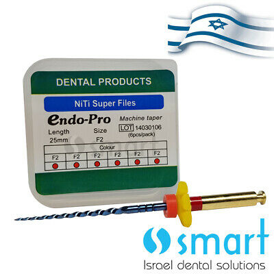 Dental NiTi rotary Endo thermal heat activation Super File ENDO PROTAPERED F2