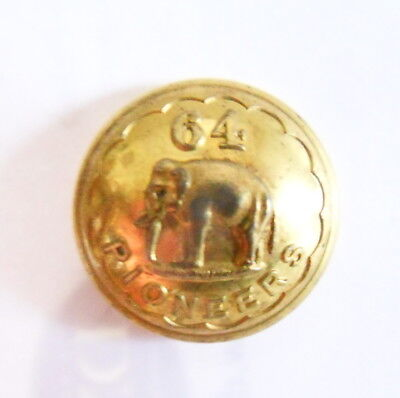 Indian Army. 64th Pioneers officer's Tunic Button.