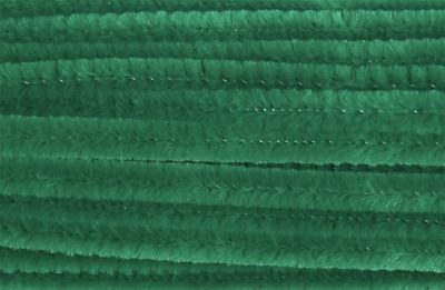 Emerald Green Chenille Sticks Pipe Cleaners 6mm x 30cm Trimits Crafts Pack of 30
