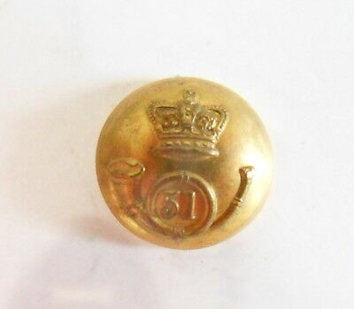 51st (2nd Yorkshire, West Riding) The K's O Lt. Inf. Officer's Coatee Button.