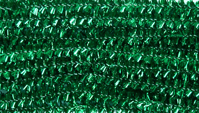 Green Tinsel Chenille Sticks Pipe Cleaners 6mm x 30cm Trimits Crafts Pack of 20