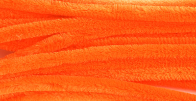 Orange Jumbo Chenille Sticks Pipe Cleaners 12mm x 30cm Trimits Craft 15 Pack