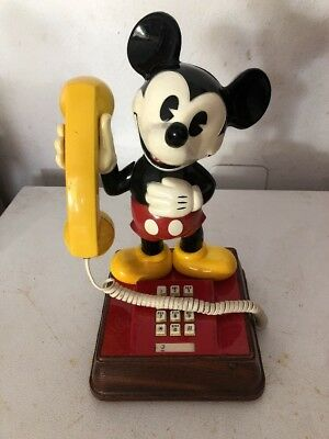 Vintage 1976 Mickey Mouse Phone Telephone Touch Tone Walt Disney 614067
