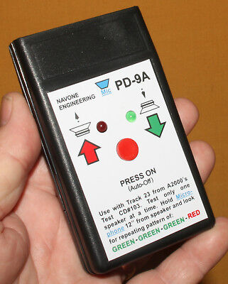 PD-9A Audio Phase Detector Self-Test Auto-Off Speaker Polarity Tester