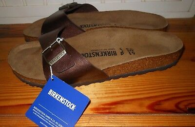 4297bd1b371546 Birkenstock Madrid BirkoFlor Womens Shoes Slides Sandals METALIC GOLD W 10  M 8 N