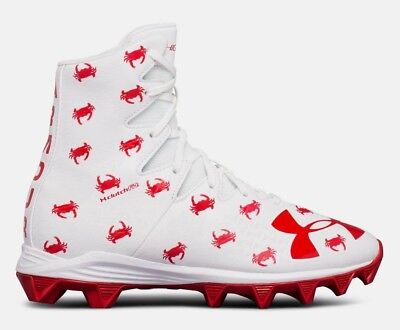 New Ua Under Armour Highlight Mc Football Cleats Univ Maryland Crabs Youth 6Y