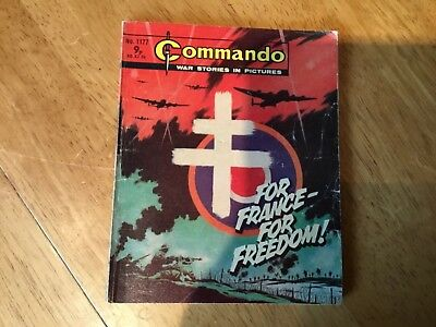 Commando War comic - No 1177 For France - For Freedom!
