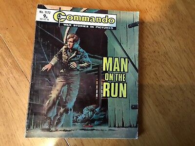 Commando War comic - No 1172 Man On The Run
