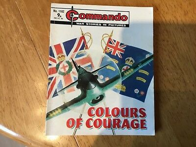Commando War comic - No 1182 Colours Of Courage