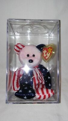 Retired Rare 1999 TY Beanie Babies Pink Face Bear Spangle with ERRORS
