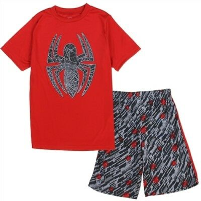 NWT 2PC Boys Spiderman Shirt and shorts - Size 4, 5/6 and 7
