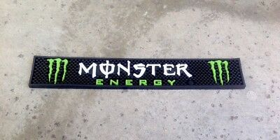 MONSTER Energy Drink Rubber Bar Rail Spill Mat.  Brand NEW 21""
