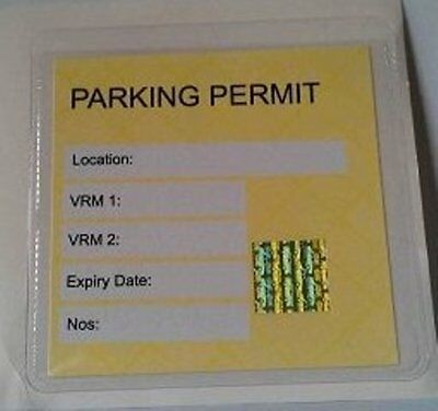 Universal Clear Square Car Parking Permit Holder For Windscreen 100mm x 100mm UK
