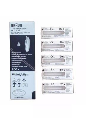 Braun Probe Covers Thermoscan Ear Thermometer Caps Replacement Lens Filter X200