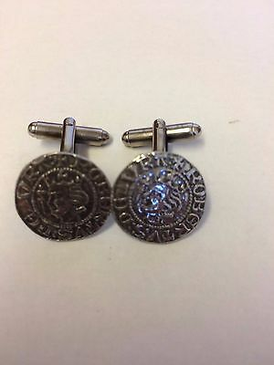 Robert The Bruce Coin WC37A Pair of Cufflinks Made From English  Pewter