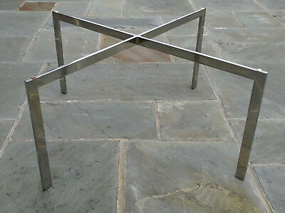 Authentic Vtg. 1970s KNOLL BARCELONA TABLE, Polished Stainless Steel,  Stamped KP