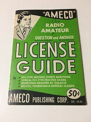AMECO Radio Amateur Question and Answer License Guide 1963