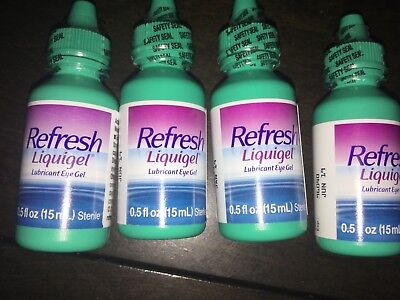 4 x Refresh Liquigel Lubricant Eye Drops  Dual Action (4 x 15 mL)  60 mL