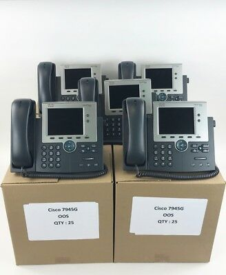 Cisco CP-7945G  VoIP Unified IP Phone PoE SCCP/SIP - 10 Per Lot - Bulk