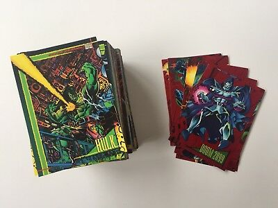 Marvel Universe Series 4 Complete Base And Sub Set Skybox 1993