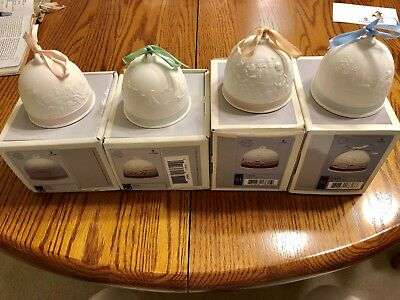 Lladro Four Seasons Bell Ornaments (Set of 4) - New