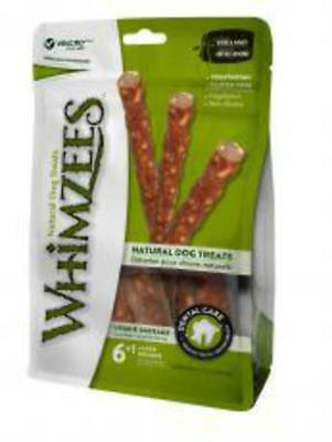 Whimzees Veggie Sausage Large 7 Pack - Healthy Vegetarian Gluten Free Dog Chew