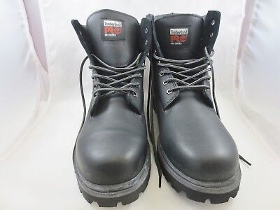 TIMBERLAND PRO BLACK Size 15W Steel Toe Work Boots Waterproof ASTM F2892-11 EH